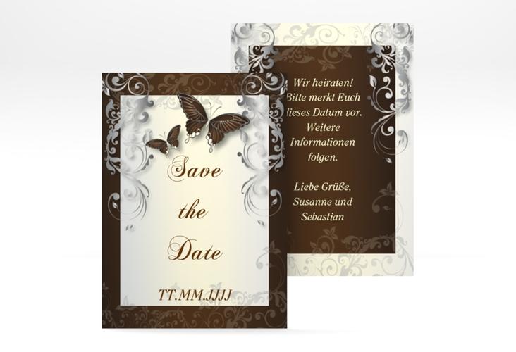 "Save the Date-Visitenkarte ""Toulouse"" Visitenkarte braun"