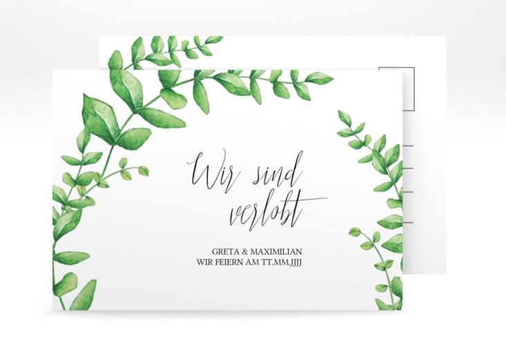 "Verlobungskarte Hochzeit ""Botanic"" A6 Postkarte"