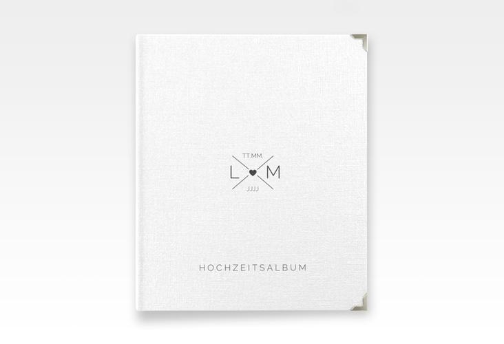 """Hochzeitsalbum """"Initials"""" 21 x 25 cm schwarz"""