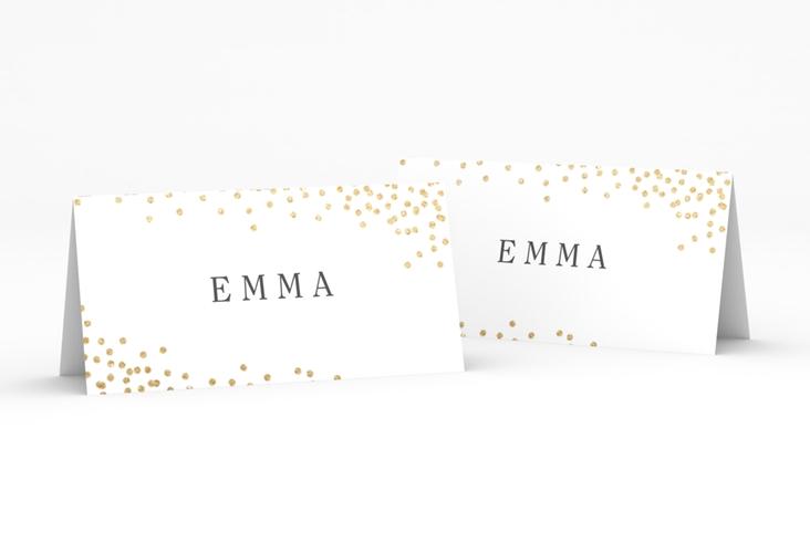 """Tischkarte Hochzeit """"Glitter"""" Tischkarten weiss"""