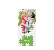 """Menükarte Hochzeit """"Puzzle"""""""