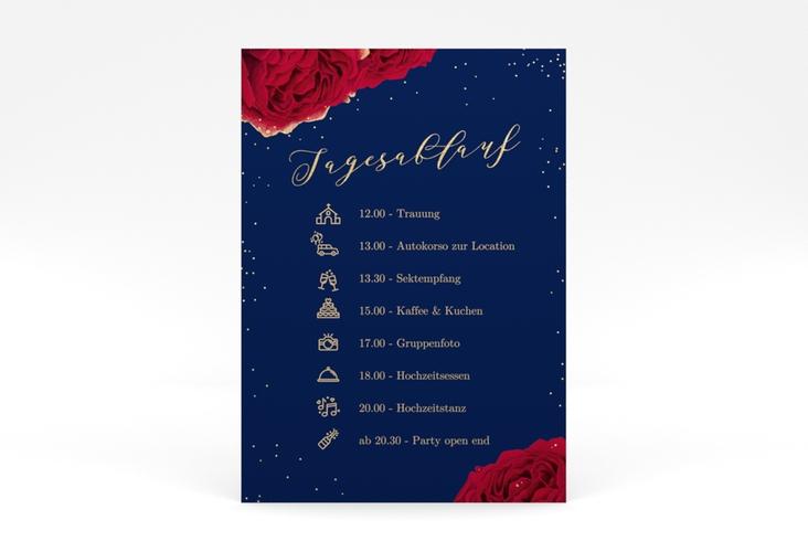 """Tagesablauf Poster Hochzeit """"Cherie"""" 50 x 70 cm Poster"""