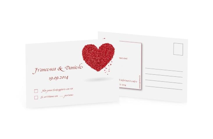 Biglietti risposta matrimonio collezione Colonia A6 Postkarte