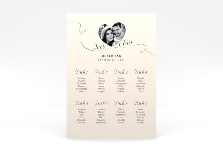"""Sitzplan Poster Hochzeit """"Dolce"""" 50 x 70 cm Poster beige"""