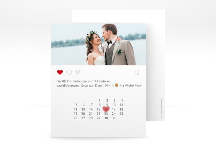 """Save the Date-Kalenderblatt """"Posting"""" Kalenderblatt-Karte weiss"""