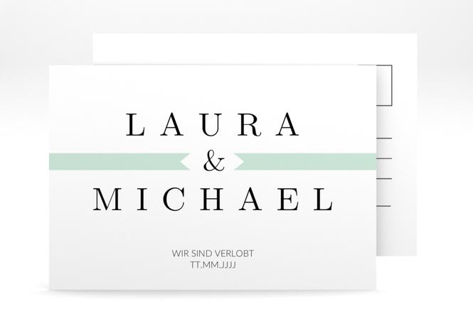 "Verlobungskarte Hochzeit ""Tender"" A6 Postkarte"