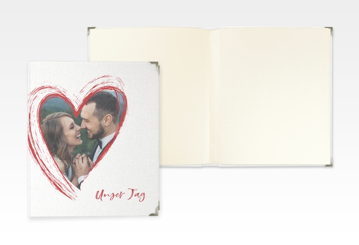 """Hochzeitsalbum """"Liebe"""" 21 x 25 cm rot"""