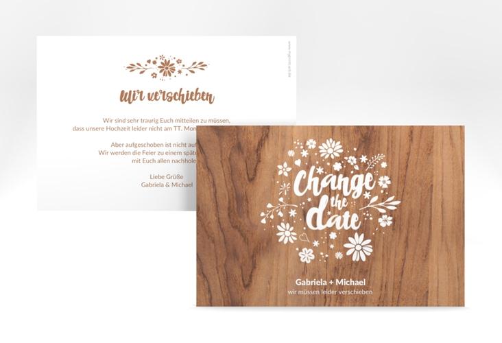 """Change the Date-Karte """"Buttercup"""" A6 quer braun"""