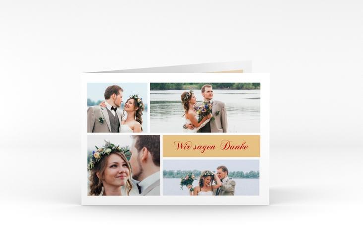 """Danksagungskarte Hochzeit """"Collage"""" A6 Klappkarte Quer"""