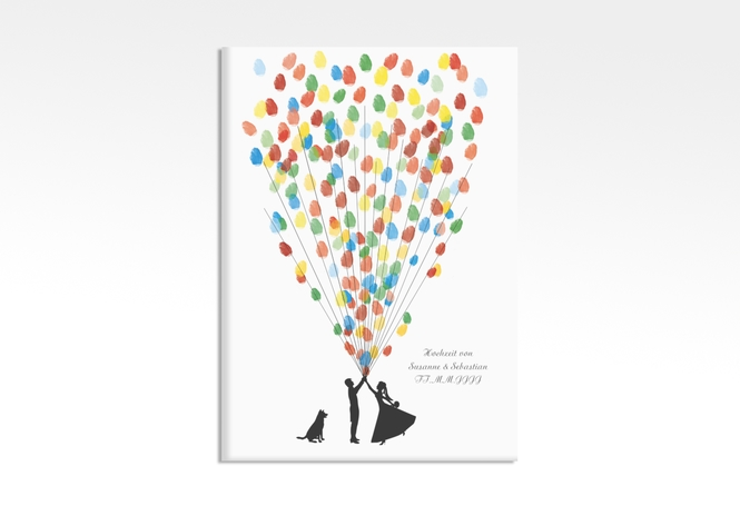 Wedding Tree – Ballons Beatrice Dog bis zu 200 Gäste 50x70 cm 50 x 70 cm