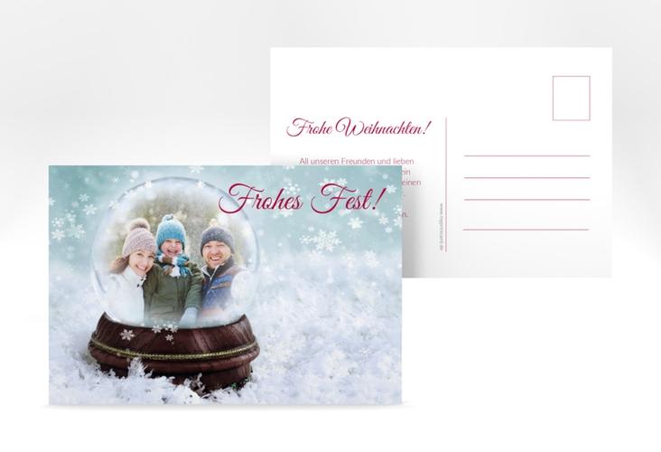 """Weihnachtskarte """"Schneekugel"""" A6 Postkarte"""