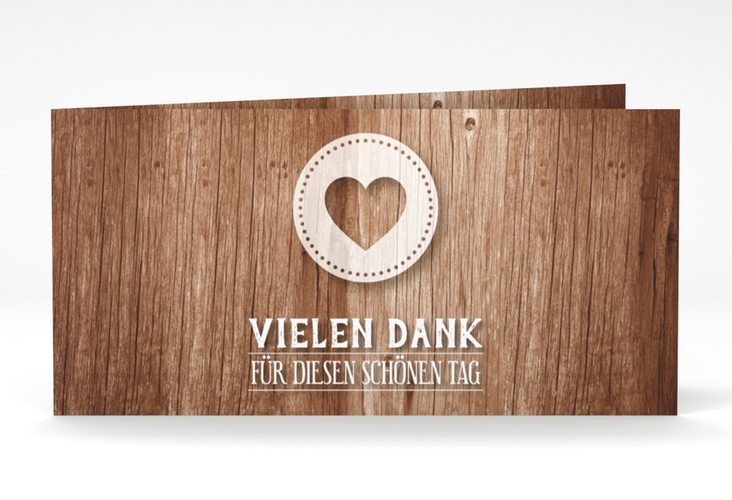 "Danksagungskarte Hochzeit ""Flair"" DIN lang Klappkarte"