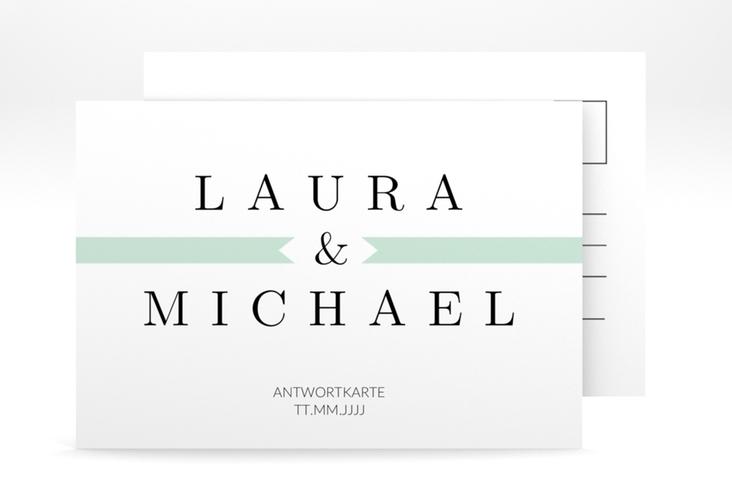 """Antwortkarte Hochzeit """"Tender"""" A6 Postkarte"""