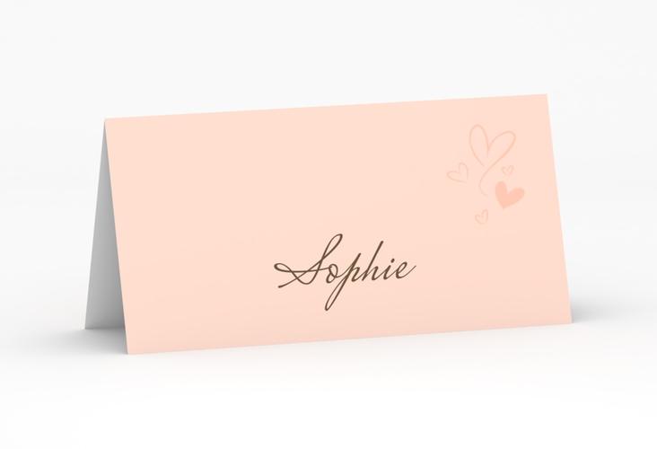 """Tischkarte Hochzeit """"Purity"""" Tischkarten apricot"""