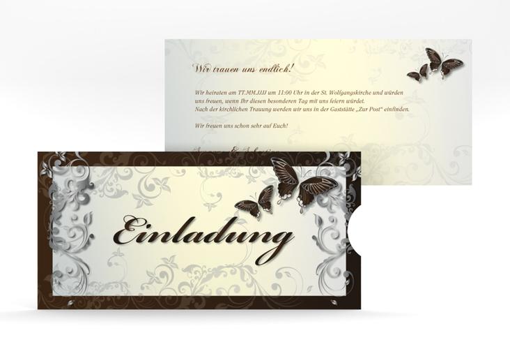 """Hochzeitseinladung """"Toulouse"""" Einsteckkarte braun"""