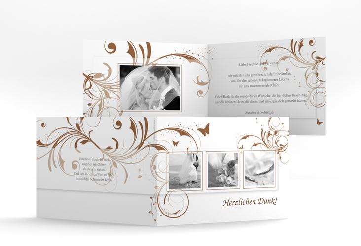 "Dankeskarte Hochzeit ""Palma"" A6 Klappkarte Quer"