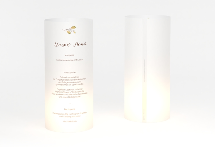 """Windlicht Menü Hochzeit """"Herbsthochzeit"""" Windlicht"""