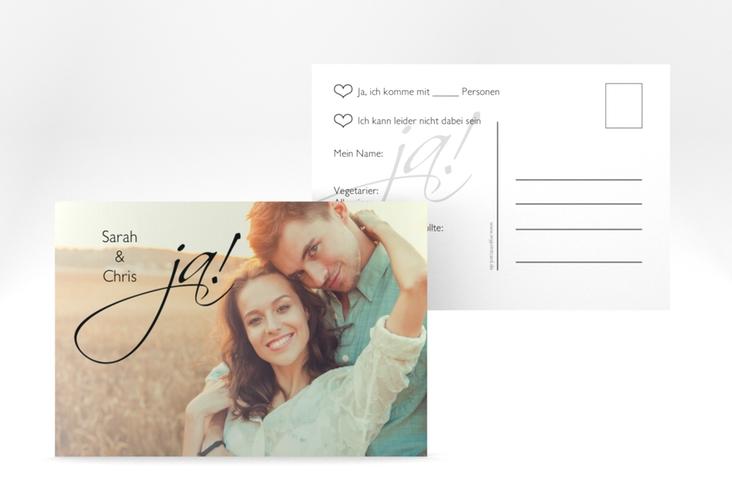 "Antwortkarte Hochzeit ""Clarity"" A6 Postkarte"