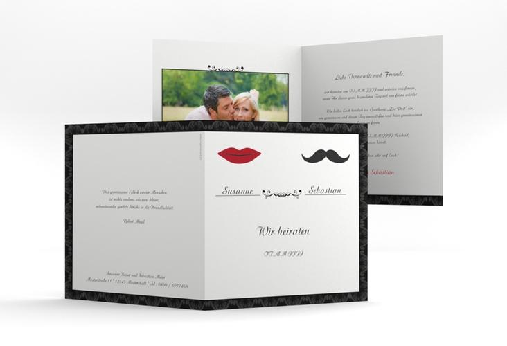 """Hochzeitseinladung """"Montpellier"""" Quadratische Klappkarte"""