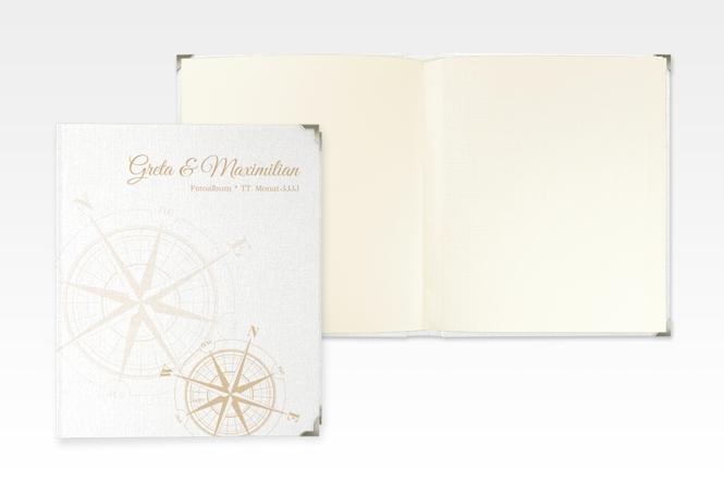 """Hochzeitsalbum """"Windrose"""" 21 x 25 cm beige"""