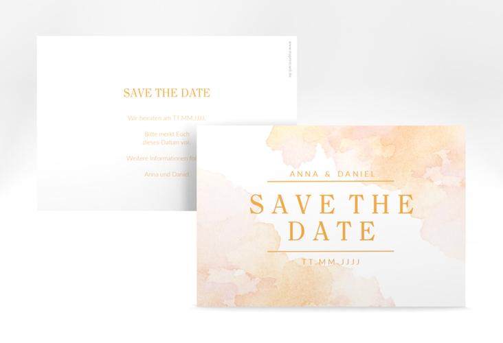 "Save the Date-Karte ""Blush"" A6 quer"
