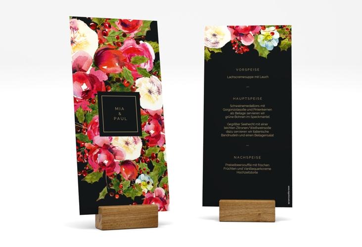 "Menükarte Hochzeit ""Blumenpracht"" DIN lang hoch"