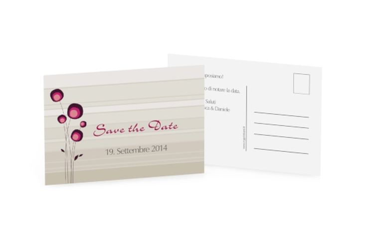 Biglietti Save the Date collezione Tivoli A6 Postkarte