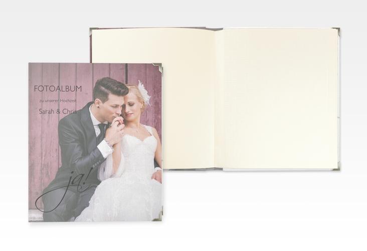 """Hochzeitsalbum """"Clarity"""" 21 x 25 cm"""