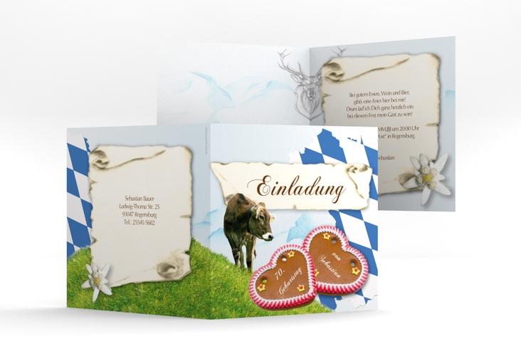 "Einladungskarte ""Joseph/Josephine"" Quadratische Klappkarte"