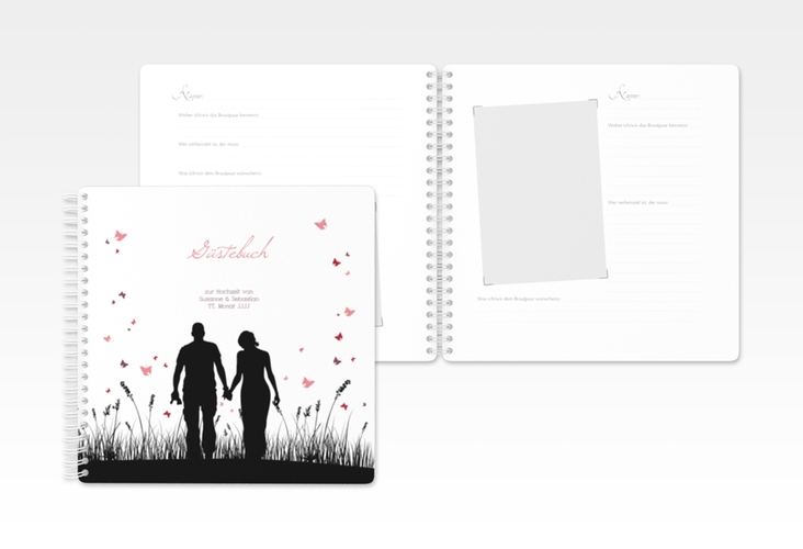 "Gästebuch Hochzeit ""Rouen"" Ringbindung"