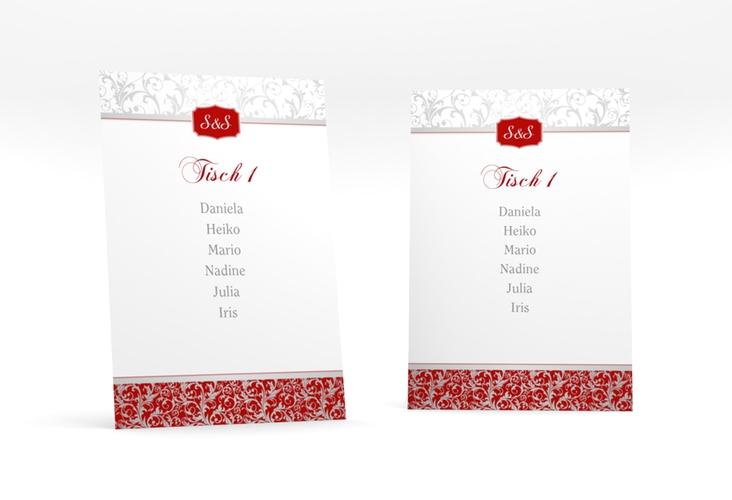 """Tischaufsteller Hochzeit """"Latina"""" Tischaufsteller rot"""