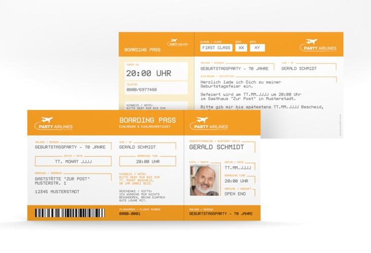 """Einladungskarte """"Boardingpass"""" DIN lang"""