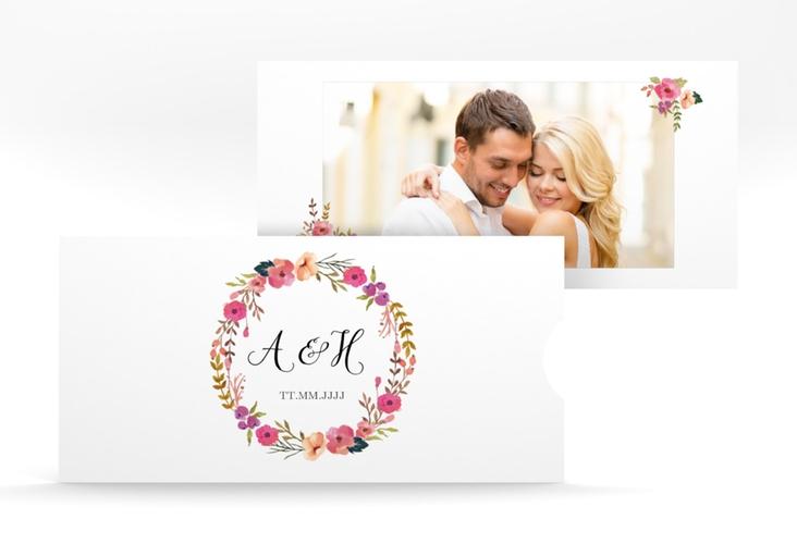 """Hochzeitseinladung """"Fiore"""" Einsteckkarte weiss"""