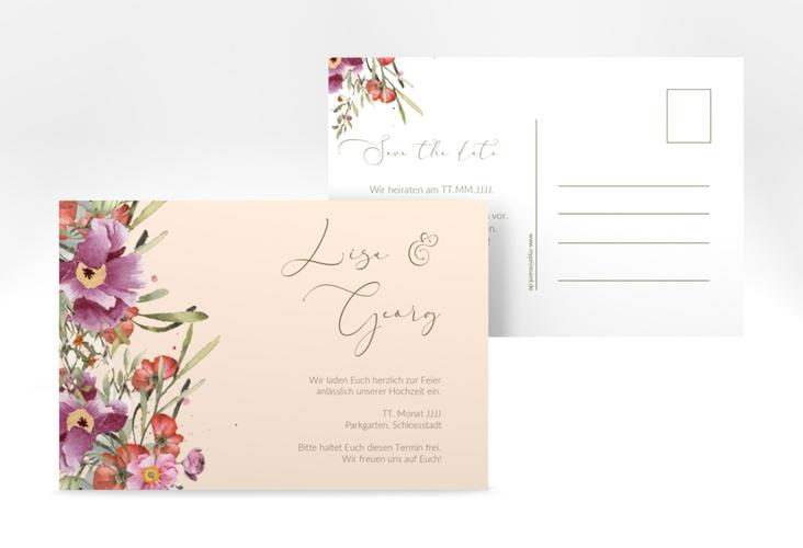 "Save the Date-Postkarte ""Rosey"" A6 Postkarte"