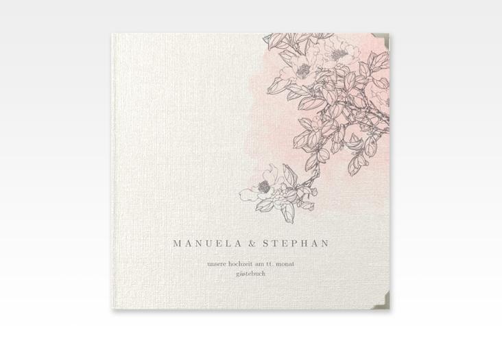 "Gästebuch Selection Hochzeit ""Artlover"" Leinen-Hardcover rosa"