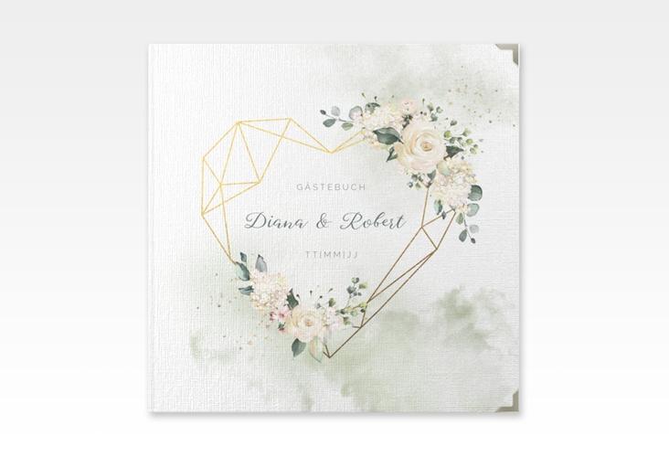 "Gästebuch Selection Hochzeit ""Adore"" Leinen-Hardcover gruen"