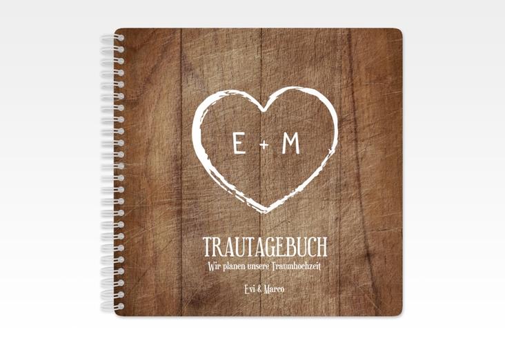 """Trautagebuch Hochzeit """"Wood"""" Trautagebuch Hochzeit braun"""