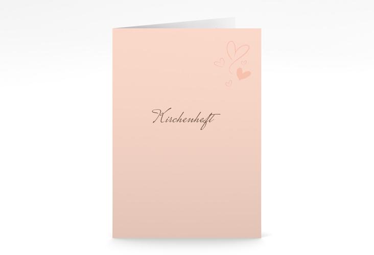 """Kirchenheft Hochzeit """"Purity"""" DIN A5 geklappt"""