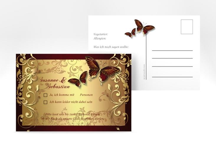 "Antwortkarte Hochzeit ""Toulouse"" A6 Postkarte"