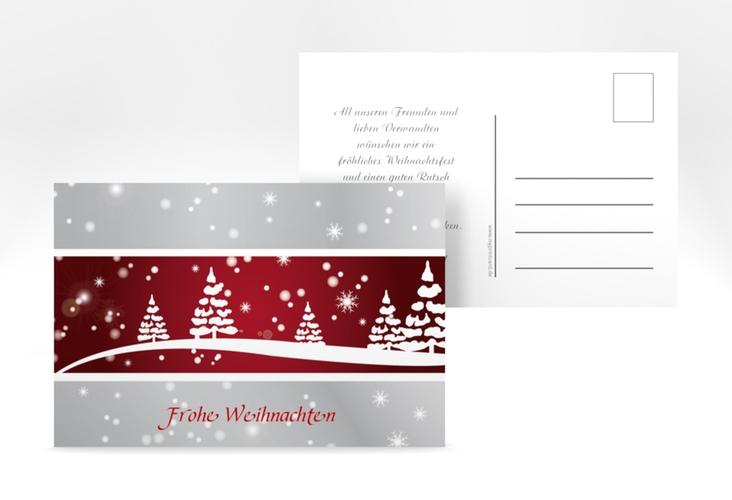 "Weihnachtskarte ""Magical"" A6 Postkarte rot"