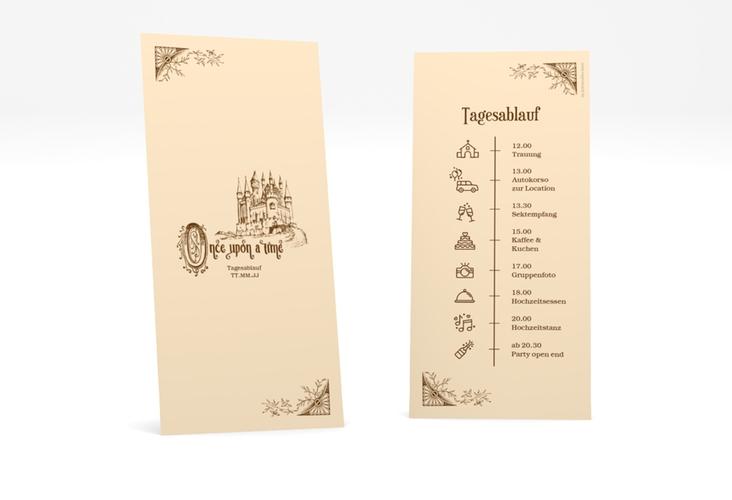"""Tagesablauf Hochzeit """"Storybook"""" DIN lang hoch"""