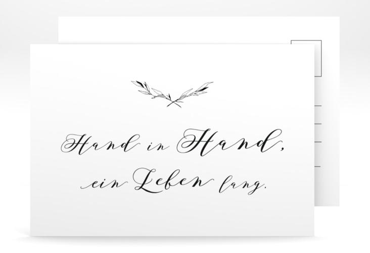 """Antwortkarte Hochzeit """"Divine"""" A6 Postkarte weiss"""