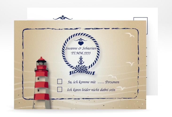 """Antwortkarte Hochzeit """"Sylt"""" A6 Postkarte"""