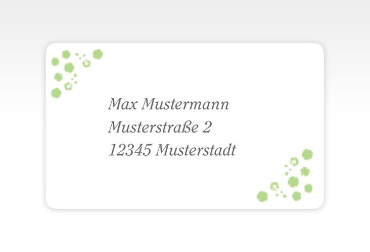 """Empfängeretikett Hochzeit """"Triest"""" 63,5 x 38,1 mm gruen"""