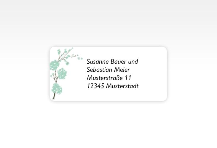 """Absenderetikett Hochzeit """"Salerno"""" 45,7 x 21,2 mm mint"""