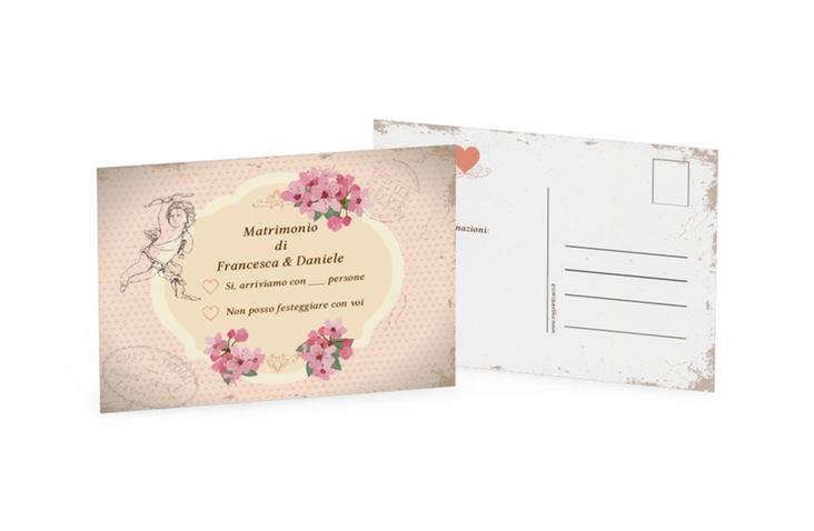 Biglietti risposta matrimonio collezione Chelles A6 Postkarte