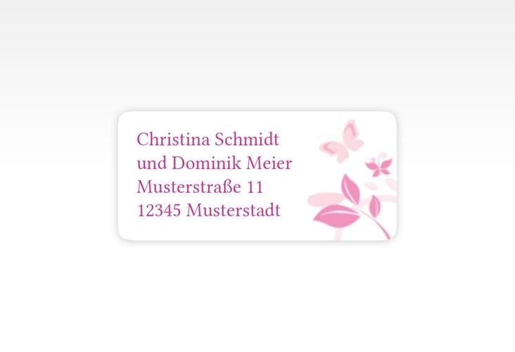 """Absenderetikett Hochzeit """"Lilly"""" 45,7 x 21,2 mm pink"""