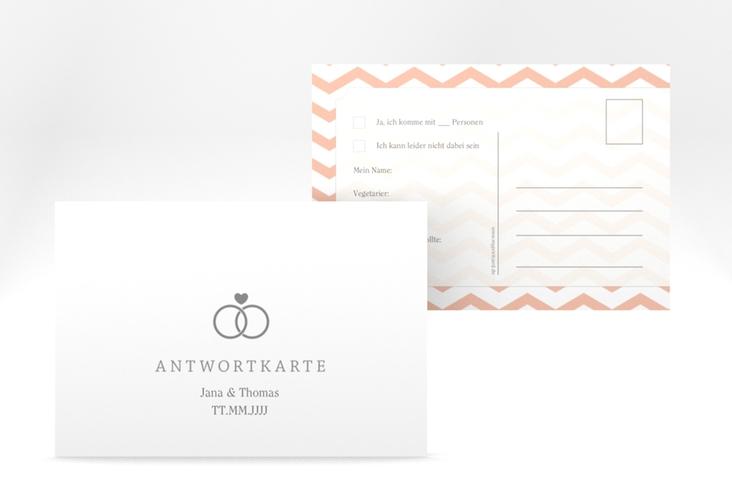 """Antwortkarte Hochzeit """"Avery"""" A6 Postkarte"""