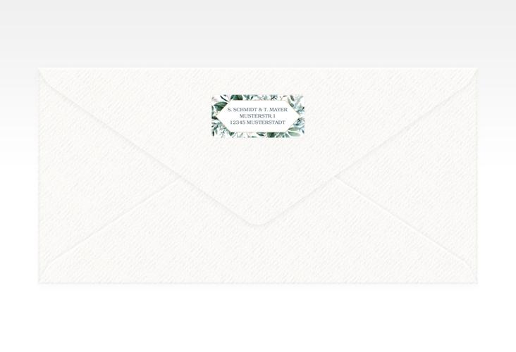 """Absenderetikett Hochzeit """"Lumiere"""" 45,7 x 21,2 mm weiss"""