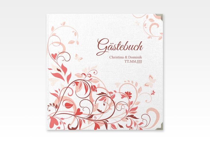 "Gästebuch Selection Hochzeit ""Lilly"" Leinen-Hardcover rot"